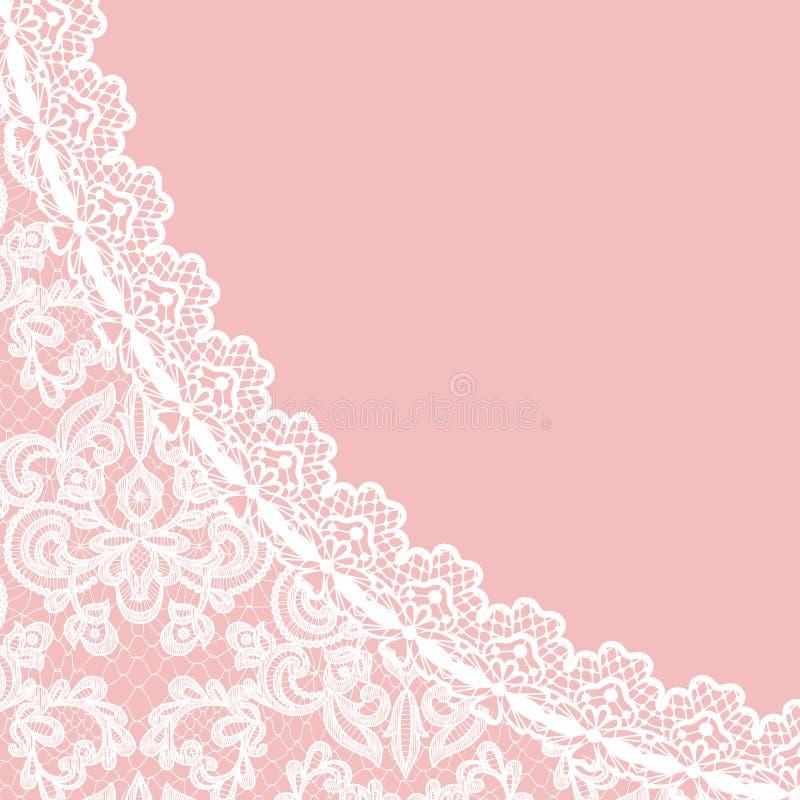 Граница шнурка на розовой предпосылке бесплатная иллюстрация