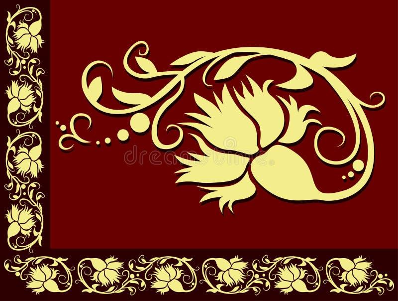 граница 04 флористическая иллюстрация штока