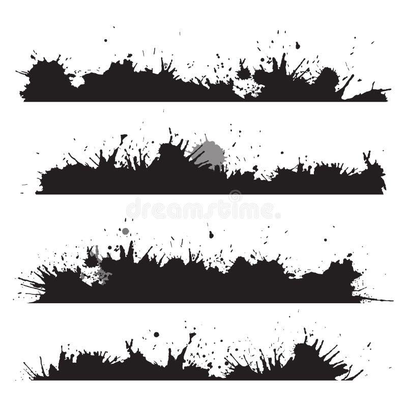Граница Grunge с брызгает и падает бесплатная иллюстрация