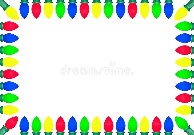 Граница II электрической лампочки рождества иллюстрация вектора