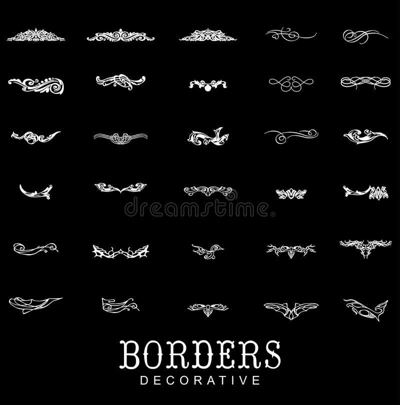 Границы и рассекатели декоративные иллюстрация штока