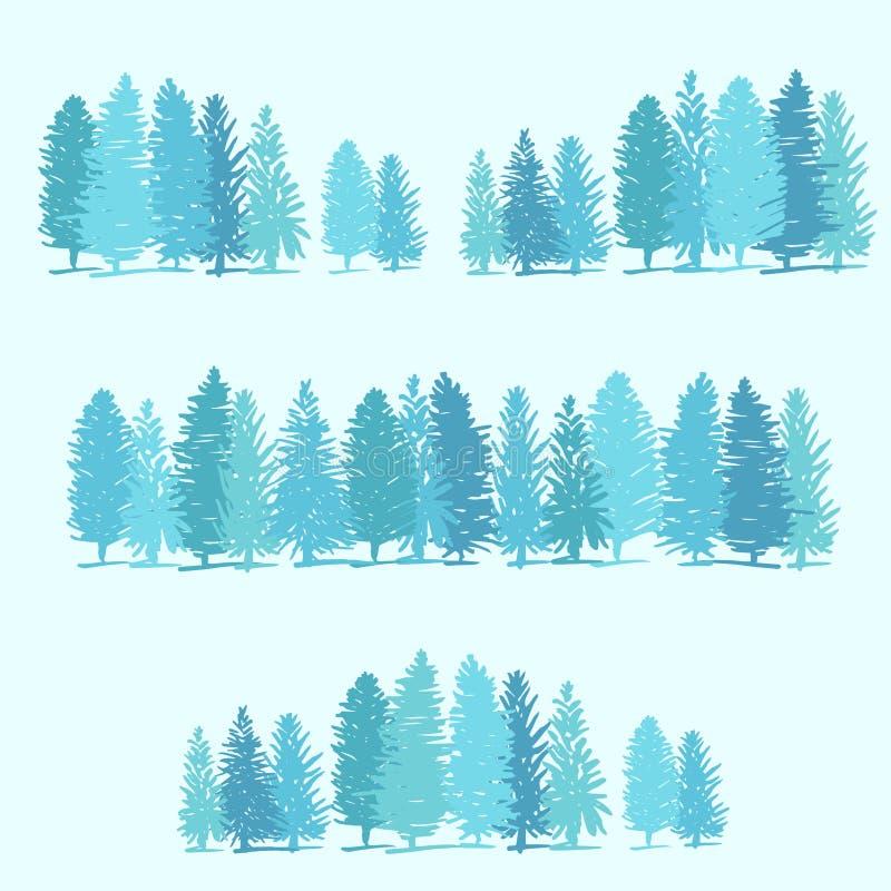 3 границы сделанной из сосен иллюстрация штока