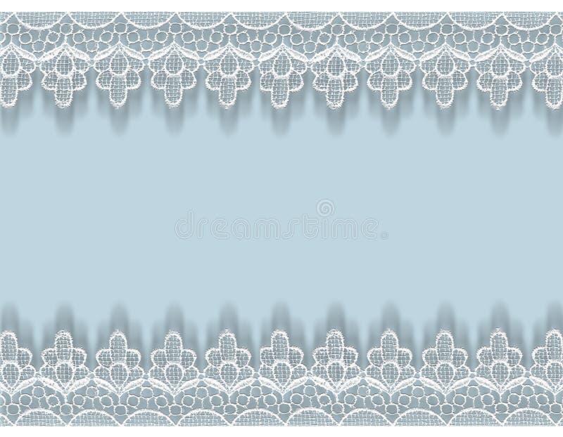 Границы шнурка, поздравительная открытка для приглашения иллюстрация вектора