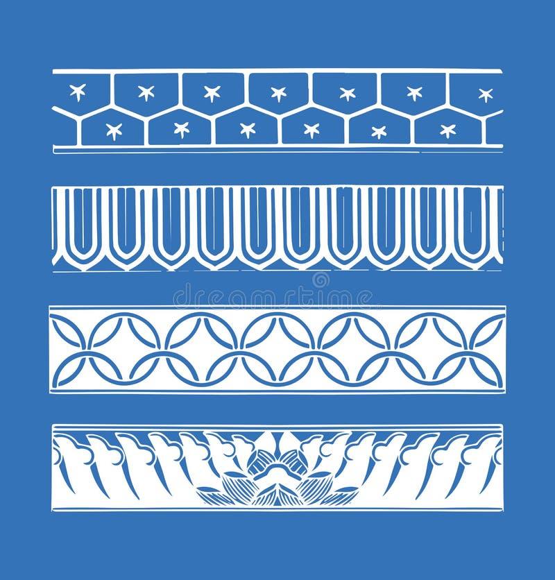 Границы ized Grunge иллюстрация вектора