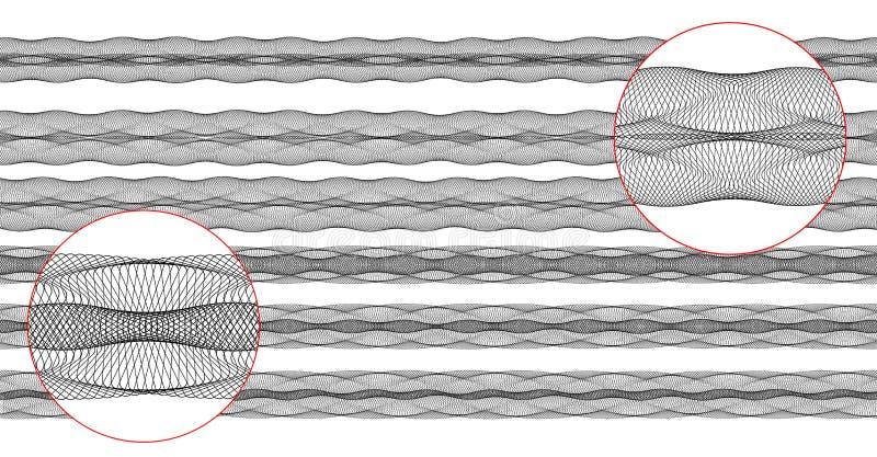 граничит вектор guilloche иллюстрация штока
