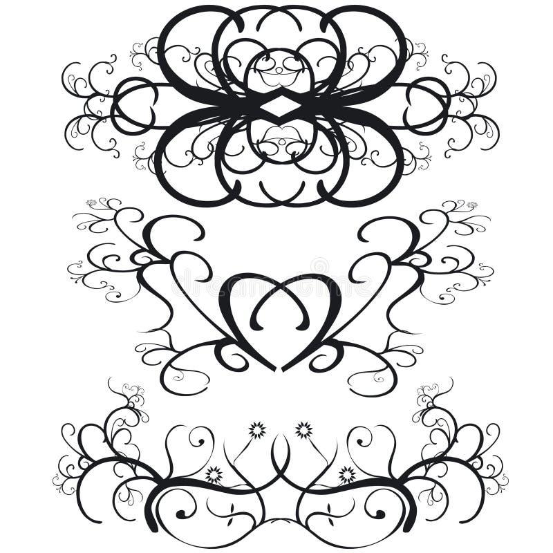 граничит декоративную иллюстрация вектора