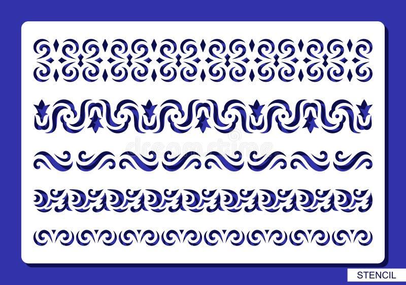 граничит декоративный комплект иллюстрация вектора