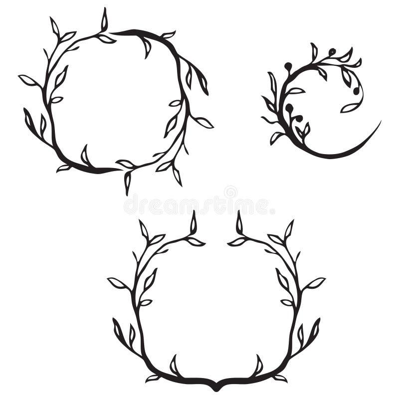 граничит декоративный цветок иллюстрация вектора