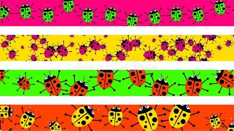 граничит ladybug иллюстрация штока