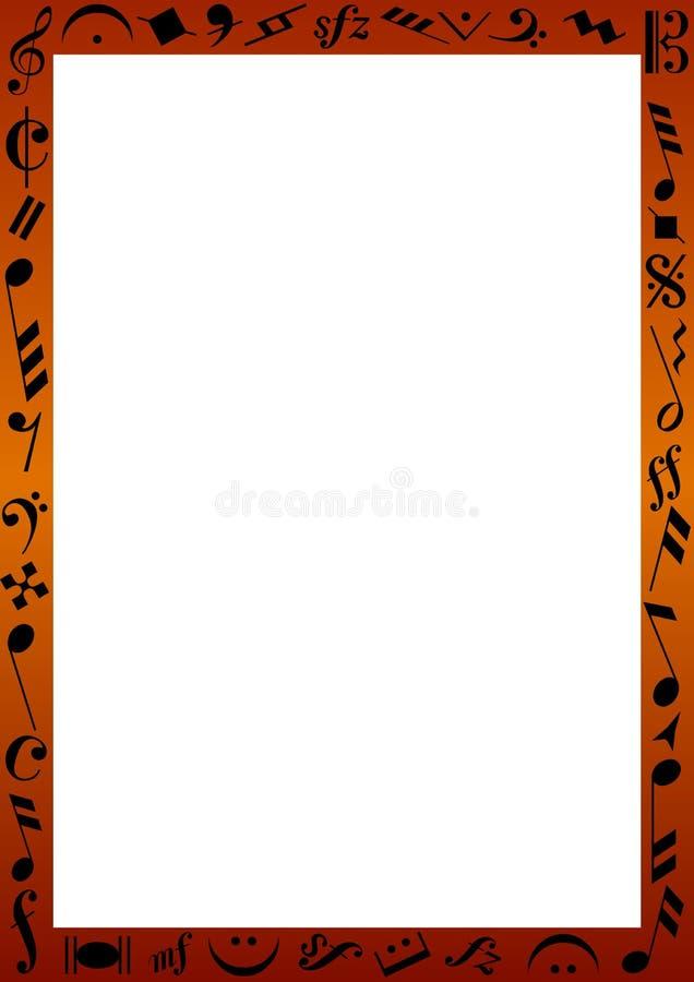 граничьте знаки нот иллюстрация вектора