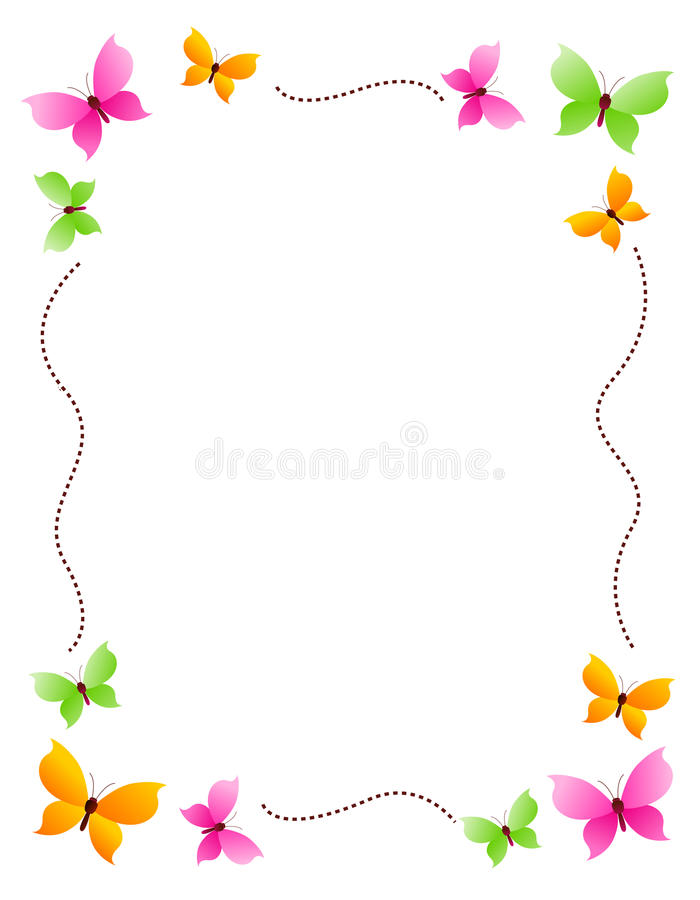 граничьте рамку бабочки иллюстрация вектора