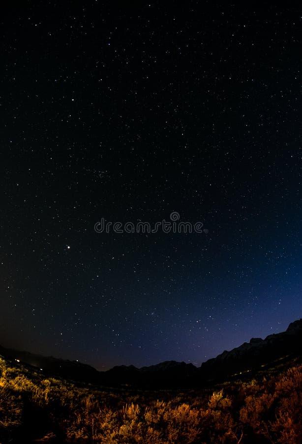 Грандиозное Teton - ноча стоковое изображение rf