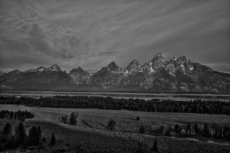 Грандиозное Teton B&W стоковая фотография