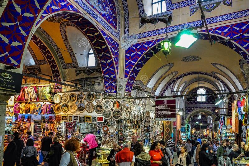 Грандиозный базар в Стамбуле, Турции стоковые фотографии rf