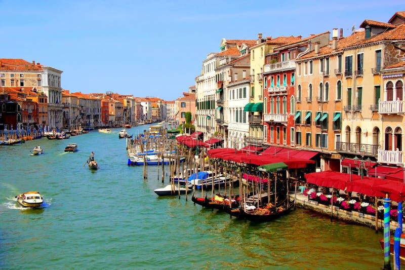 Грандиозный канал Венеции стоковое изображение