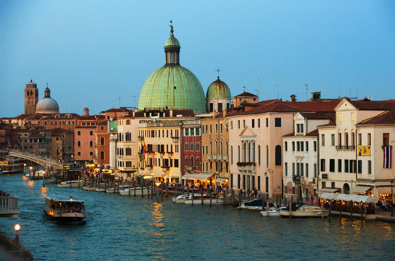 Грандиозный канал, Венеция стоковые изображения rf