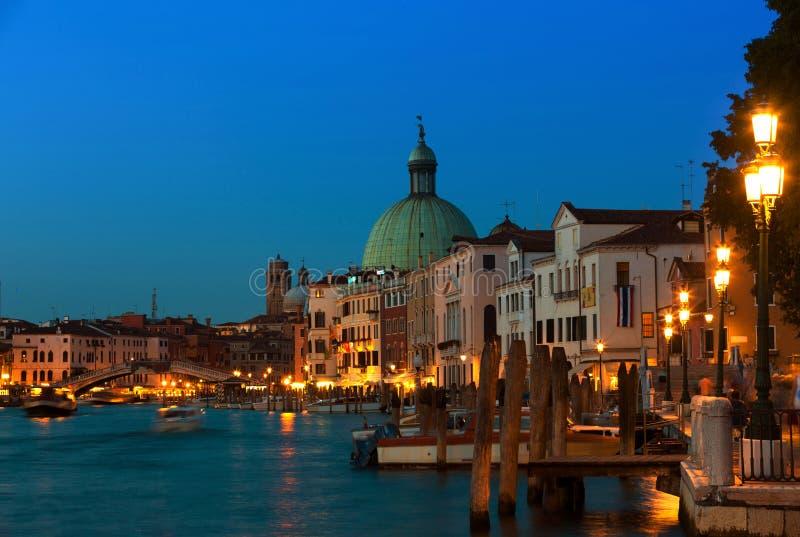 Грандиозный канал, Венеция стоковое изображение rf