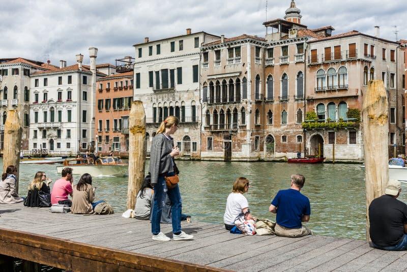 Грандиозный канал в Венеции, Италии стоковые изображения
