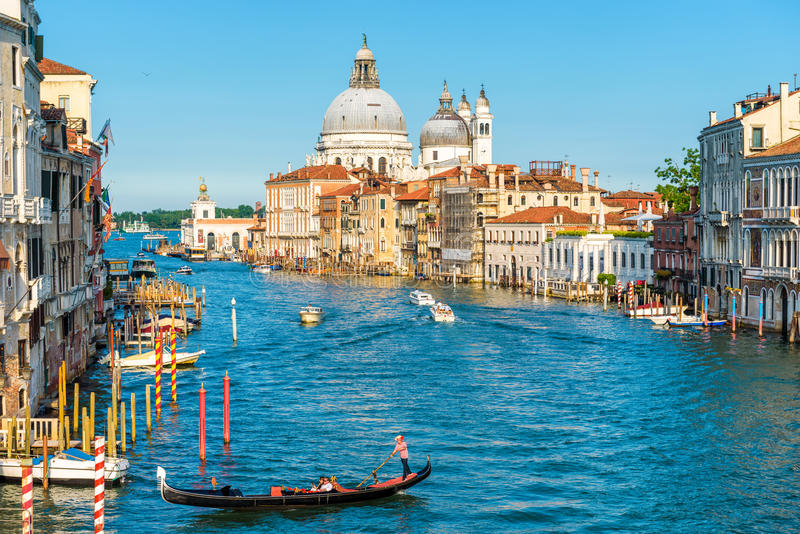 Грандиозный канал в Венеции, Италии стоковое изображение rf