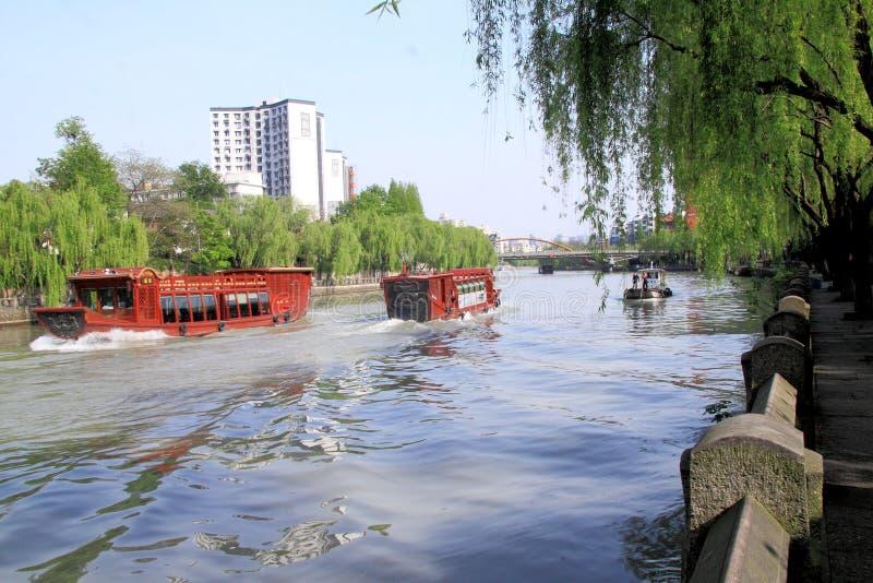 Грандиозный канал от Пекина к Ханчжоу стоковая фотография