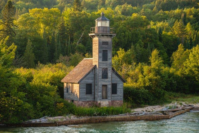 Грандиозный маяк острова, Munising, Мичиган стоковая фотография rf