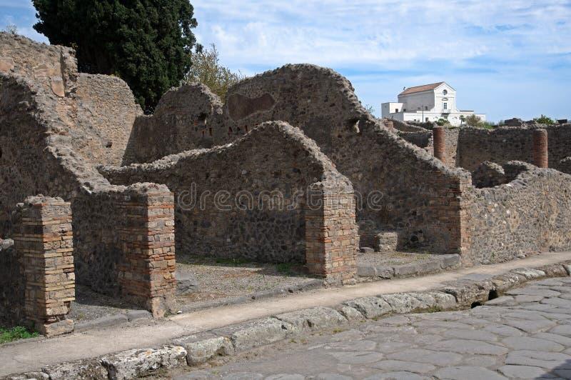 грандиозный дождь pompeii palestra Италии стоковые изображения rf