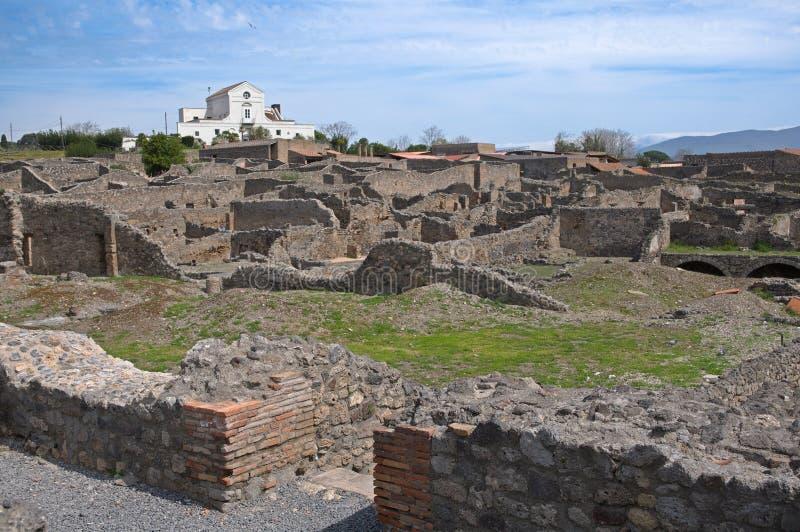грандиозный дождь pompeii palestra Италии стоковые фото