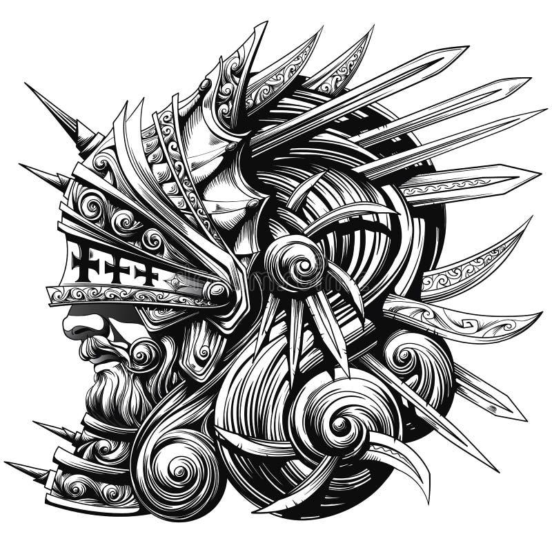 Грандиозный рыцарь иллюстрация вектора