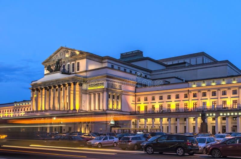 Грандиозный театр, Варшава стоковое изображение rf