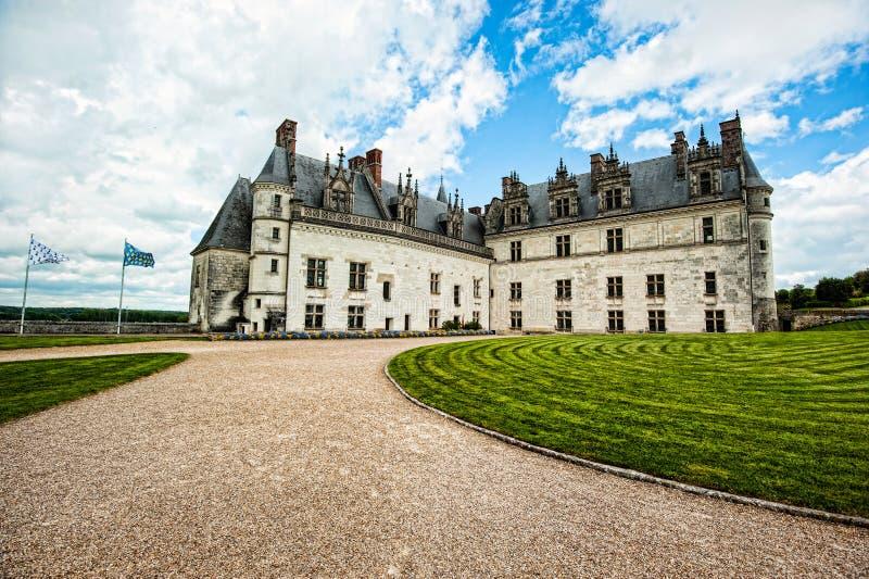 Грандиозный французский замок стоковые фотографии rf