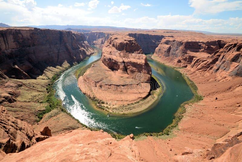 Гранд-каньон ботинка лошади стоковые изображения rf