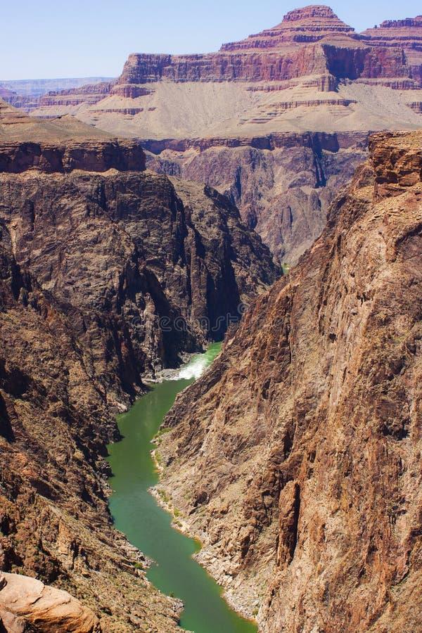 Гранд-каньон и Колорадо стоковое фото