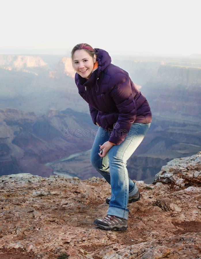 Гранд-каньон AZ Selfie стоковые изображения rf