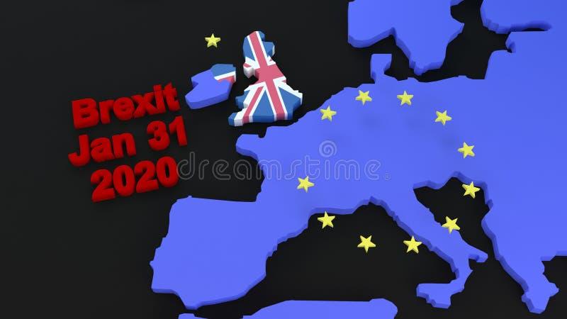 Графика Brexit стоковое изображение
