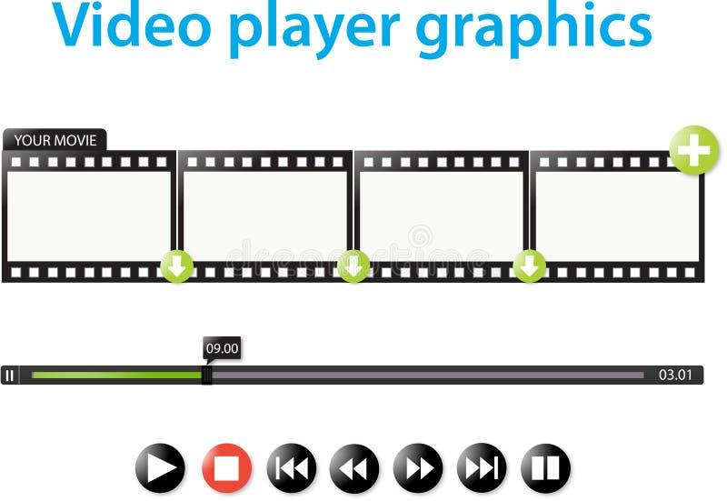Графики видео-плейер иллюстрация вектора