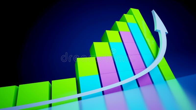графики дела иллюстрация вектора