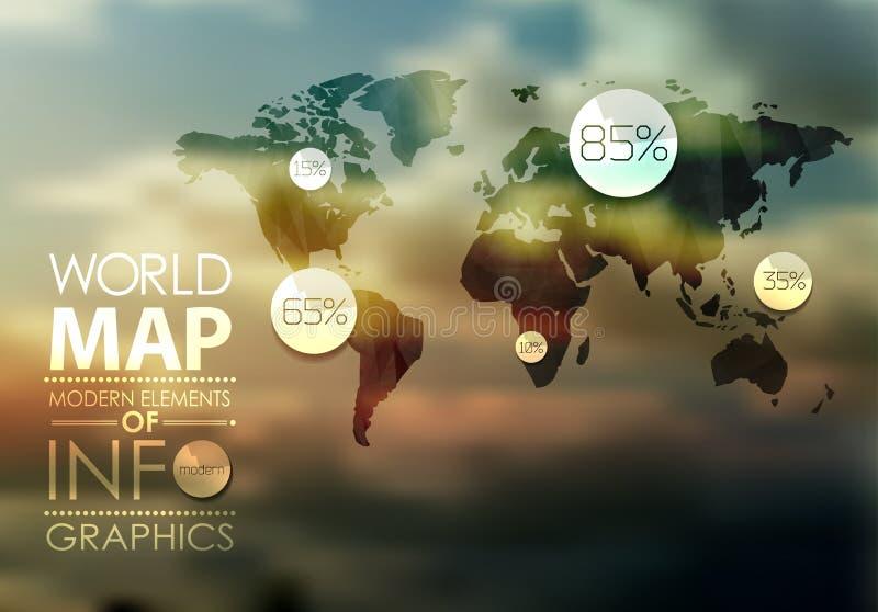 Графики карты и данных по мира иллюстрация штока