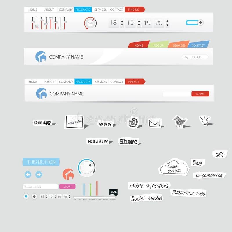 Графики сети иллюстрация штока