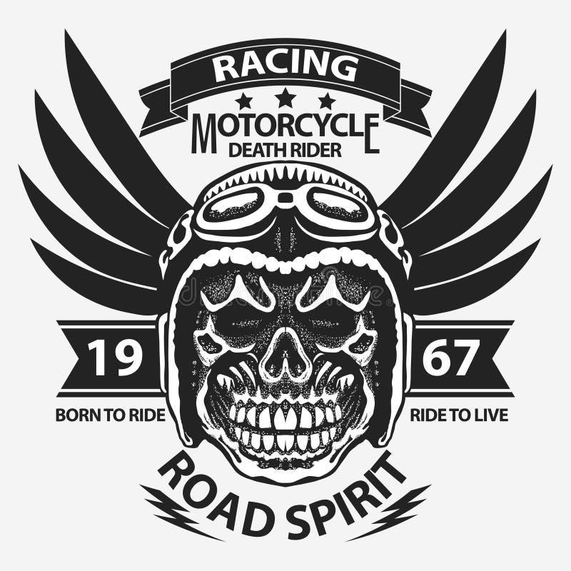 Графики футболки мотоцикла иллюстрация штока
