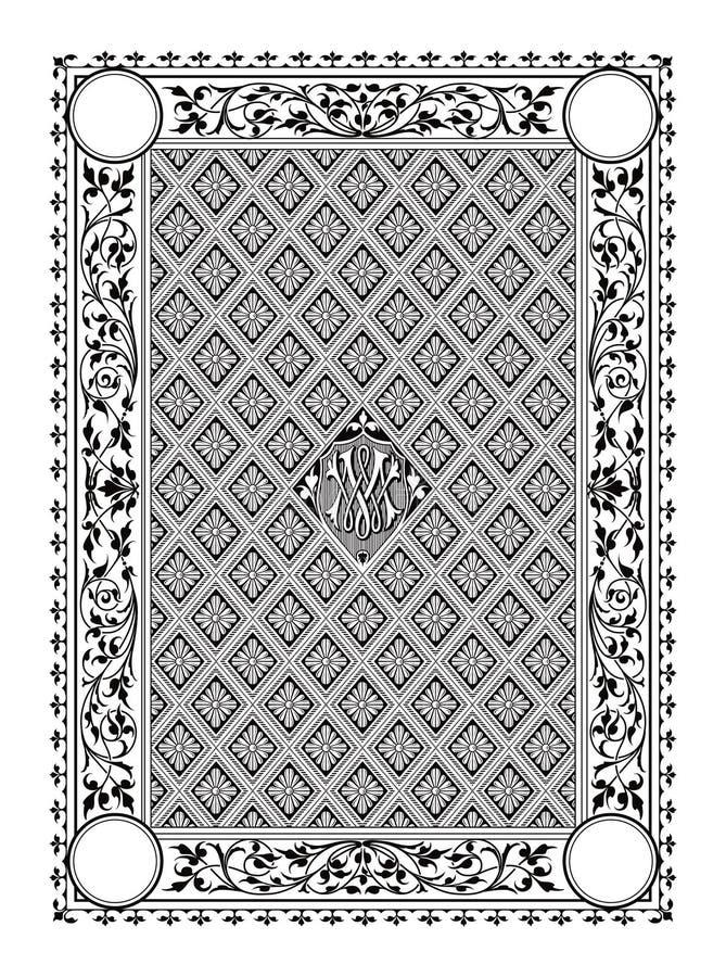 Графики элемента флоры границы классические стоковое фото rf