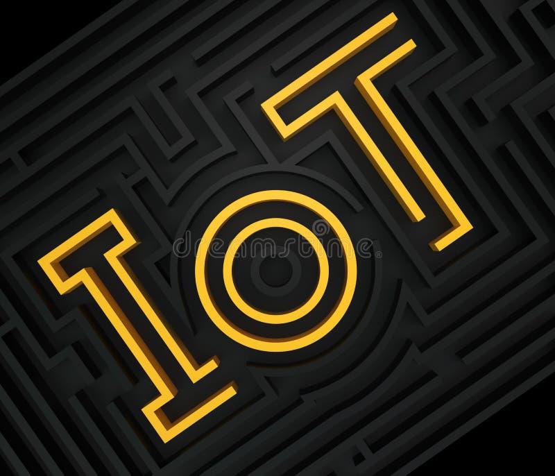 График лабиринта IoT иллюстрация вектора