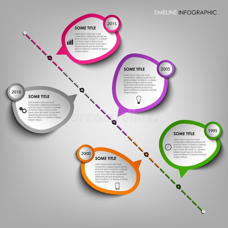 График данным по границы временной рамки с шаблоном стикеров дизайна иллюстрация вектора