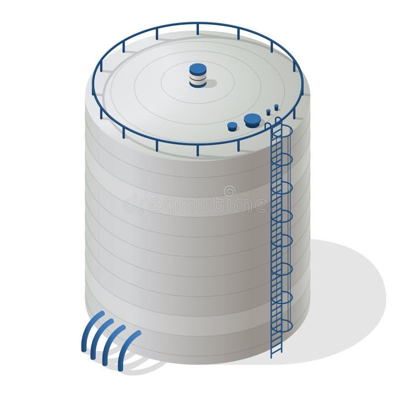 График данным по здания резервуара воды равновеликий Большая поставка резервуара воды иллюстрация штока