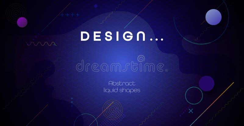 График вектора современный, минимальные элементы дизайна для фона, шаблона, плаката, обоев, летчика, плана иллюстрация вектора