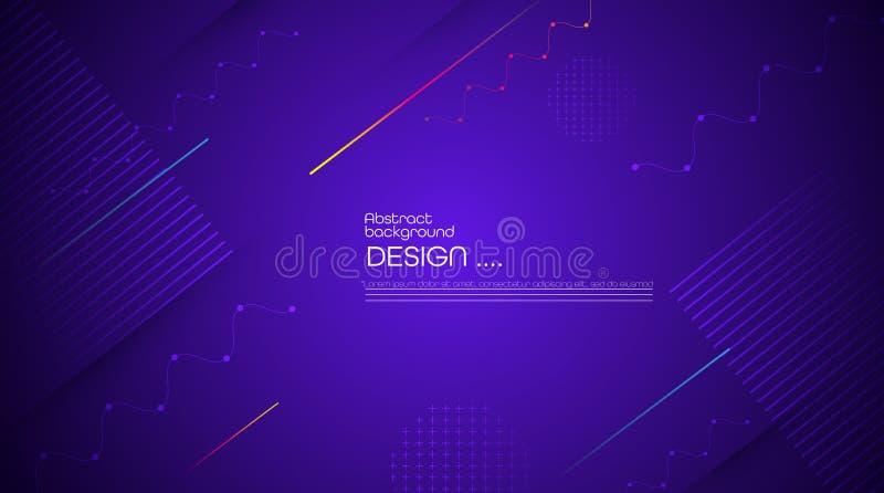 График вектора современный, минимальные элементы дизайна для фона, шаблона, плаката, обоев, летчика, плана бесплатная иллюстрация