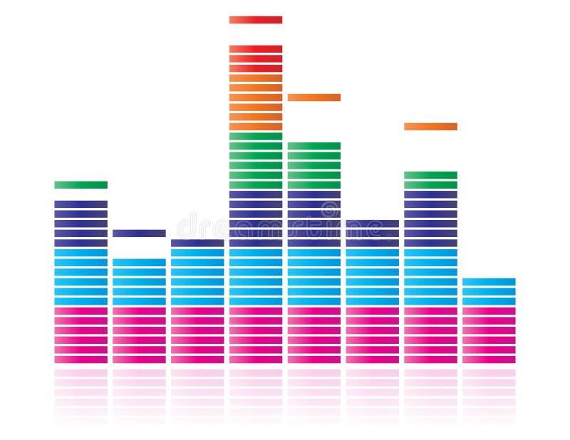 график выравнивателя иллюстрация штока