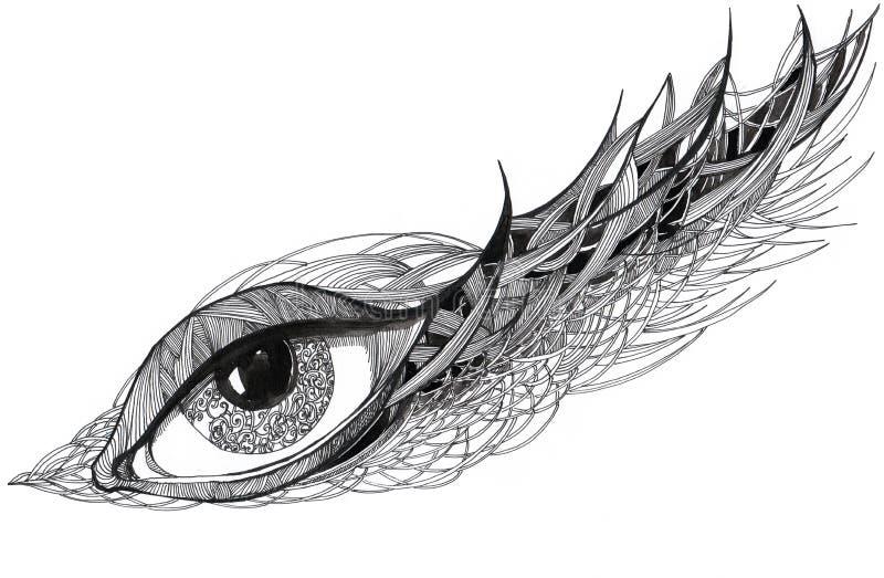 график глаза богато украшенный стоковое изображение