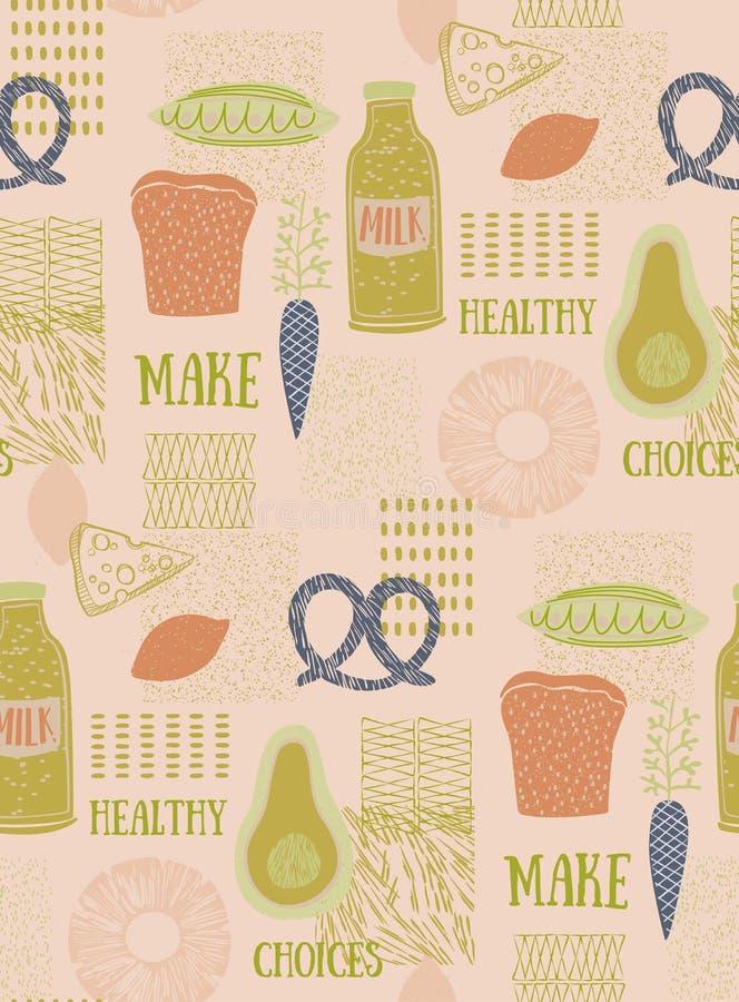 График дизайна картины кухни безшовный бесплатная иллюстрация