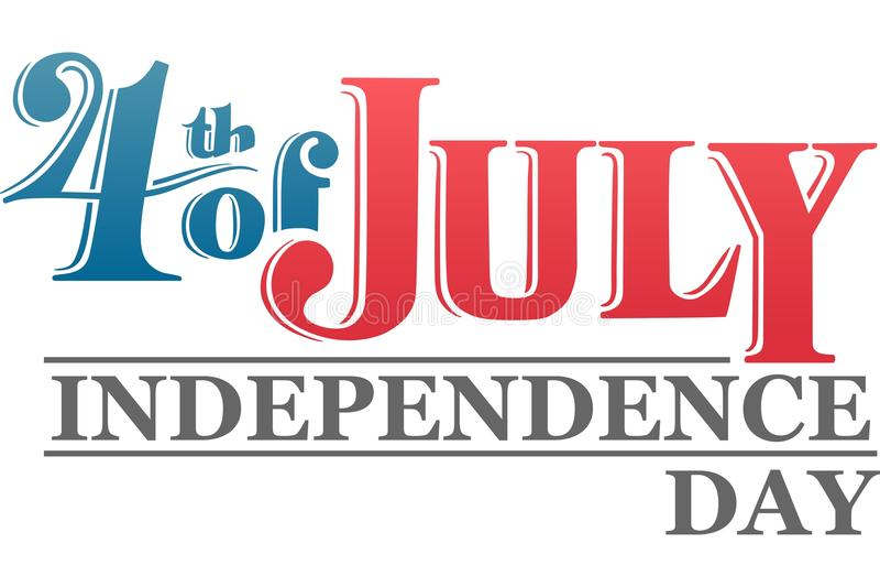 График Дня независимости иллюстрация вектора