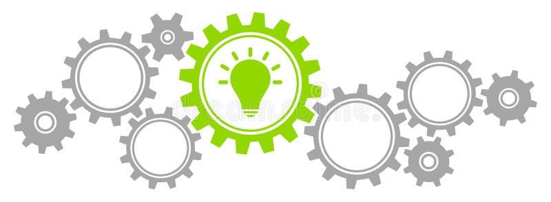График зацепляет серый цвет и зеленый цвет идеи границы иллюстрация вектора